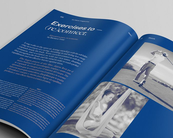"""So Blue Magazine Design by Pablo Abad """"So Blue is a new biannual magazine on fashion, beauty and healthy lifestyle."""" Pablo Abad is an Independent Graphic Designer & Art Director based in Madrid, Spain. He is focused on: Graphic Design — Art Direction..."""