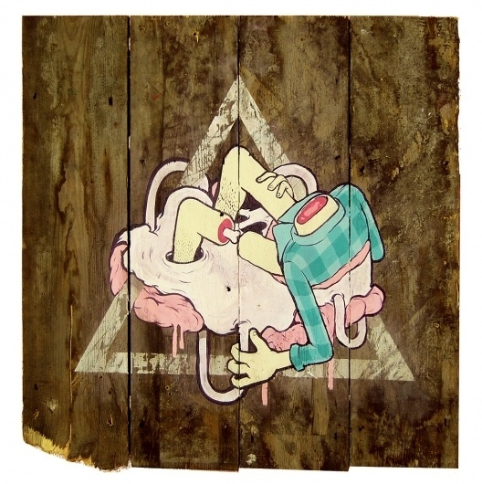 Acid Illustrations and Street Art by Smithe | Abduzeedo | Graphic Design Inspiration and Photoshop Tutorials #wood