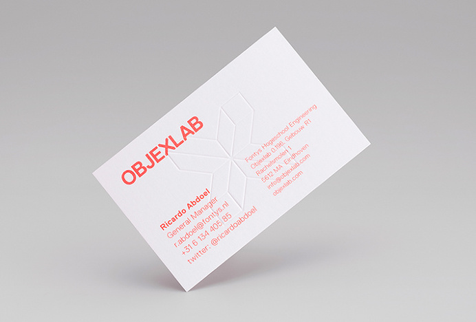 Objexlab by George&Harrison #graphic design #business card