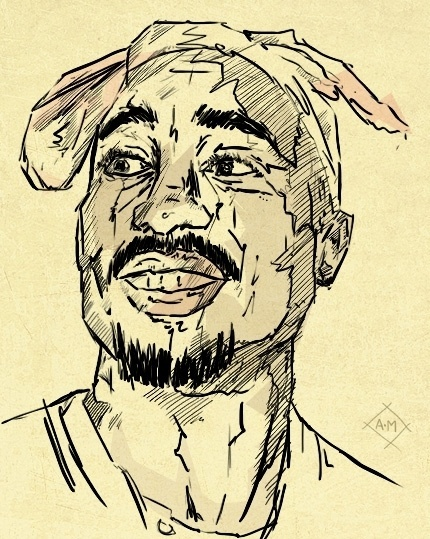 nøt too bad. - Happy 41st Birthday Tupac! Sorry I'm a day late! ... #white #tupac #black #illustration #2pac #and #music #hop #hip