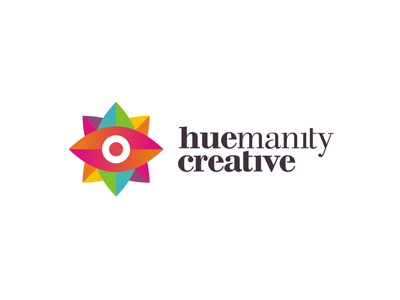 Huemanity creative design studio advertising agency colorful logo design by alex tass #creative #branding #eye #colorful #logo