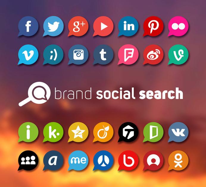 Brand Social Search #logo #identity