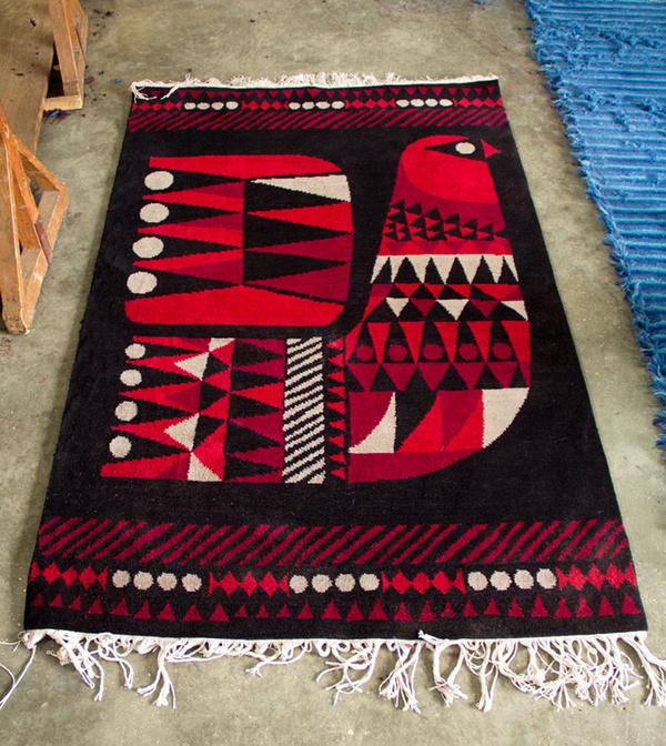 rug production sanna #print #shape #pattern #bird
