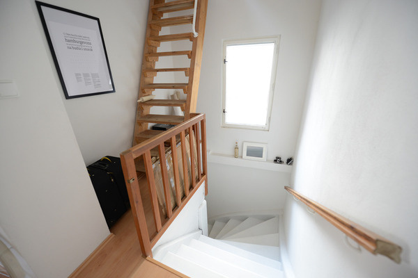 at home #white #in #the #wood #kitchen #slovakia #stairs