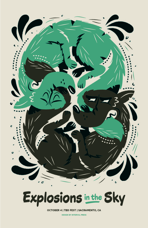 Finished poster forExplosions in the Skyperforming next month atTBD Fest #silkscreen #wolves #gig #screen #illustration #poster #silk #wolf