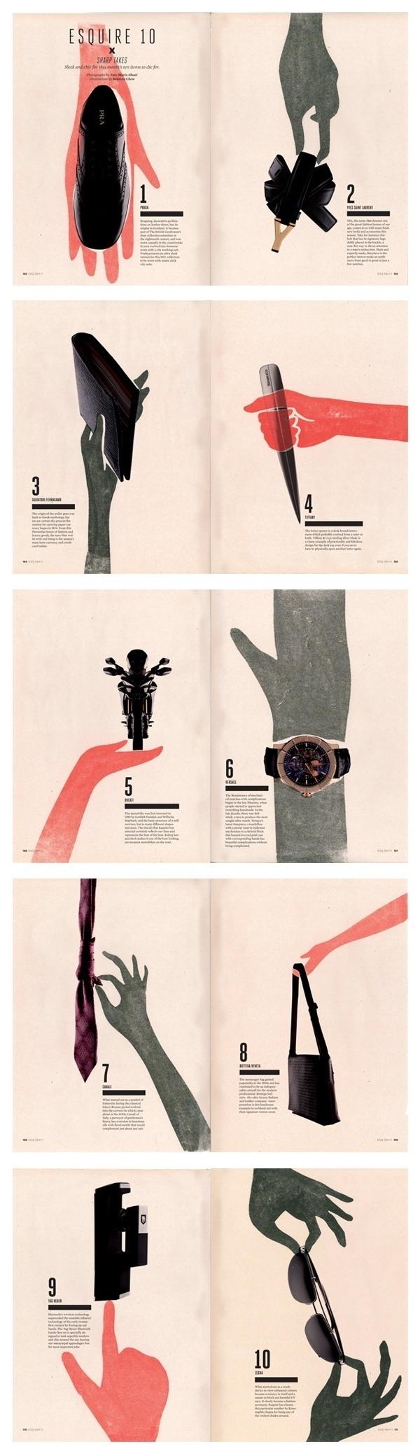 Off figure Magazine Layout Photo & Illustration merged. Wow. #fashion #esquire #editorial #magazine