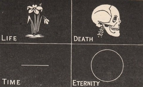 Life, death, time & eternity #white #icon #black #eternity #symbols #illustration #time #and #death #life