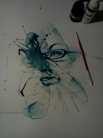 art life #blue #illustration #watercolour
