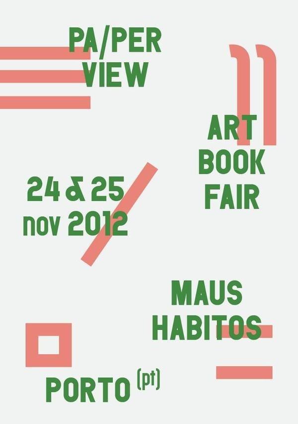 carre blanc:Pa/per View Art book fair. #poster