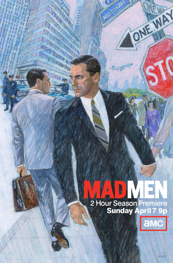 MAD MEN Season 6 #hamm #jon #tv #poster #drawing #madmen