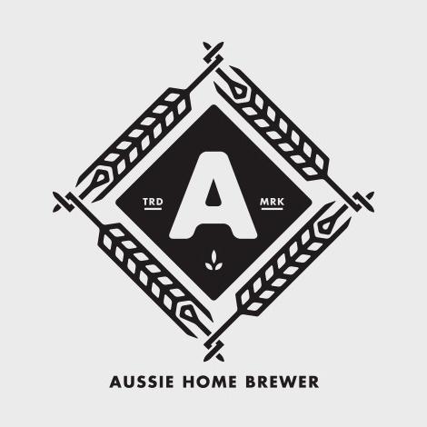 Aussie Home Brewer Logo #beer #badge #brew #logo #brewer #wheat