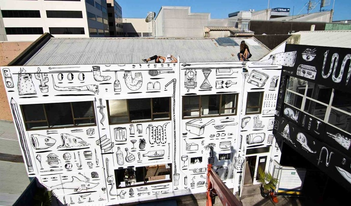 Our Place, New Plymouth, 2014. BMD street art graffiti new zealand