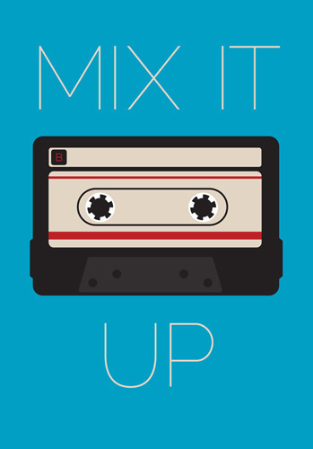 Mix It Up Art Print by Jeremy Harnell Easyart.com #inspiration #words #quote #print #design #art #poster #artprint