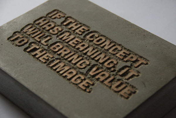 Concrete quote #quote #wood #concrete #lasercut