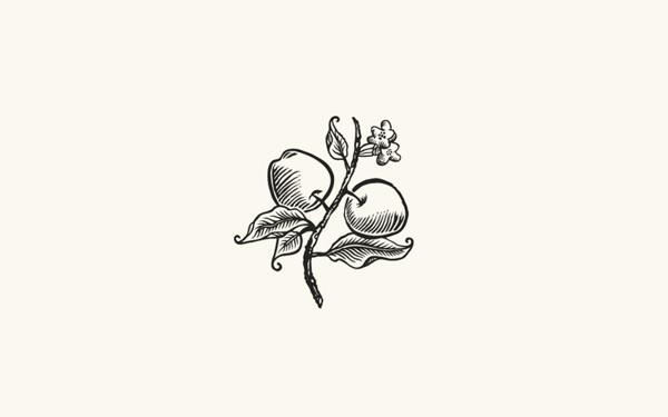 Logorama on Behance #woodcut #line #branch #apples #leaf #natural #art #logo #leaves