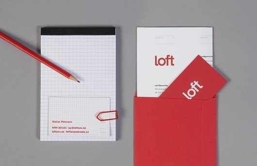 Loft Investments « Design Bureau – Lundgren+Lindqvist #print #identity #stationary