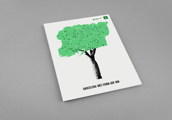 BARCELONA Mxc3x89S VERDA QUE MAI - Ajuntament de Barcelona #conceptual #map #park #poster #barcelona