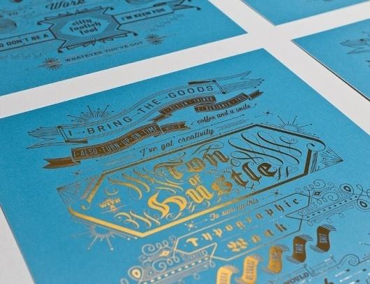 Typographic Wank - I Am Shakira #offset #hustle #card #gold #blue #foil #typography