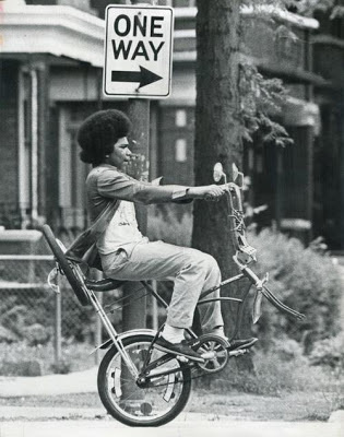 Bike Lane Diary #sign #photo #ride #one #way #wheel #crazy #biking #afro