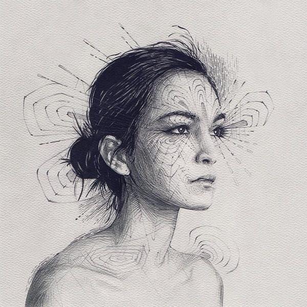 FRAMES / TRAMAS #illustration #portrait #drawing