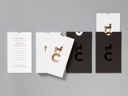 Design Work Life » Studio Botes: Cavalli Identity and Collateral #business #varnish #icon #card #identity #foil