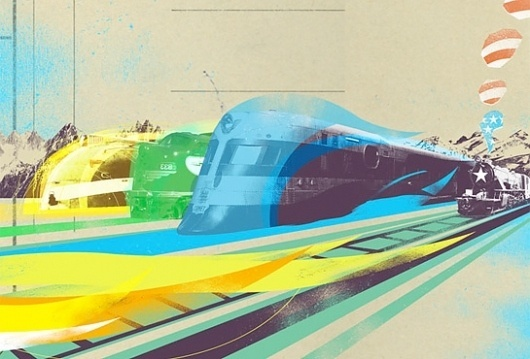 Changethethought™ - Part 2 #trains #illustration #collage #art