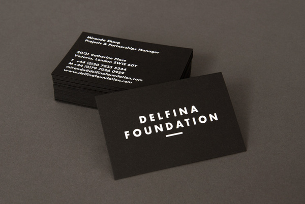 Delfina Foundation business cards #print #cards #business #stationery