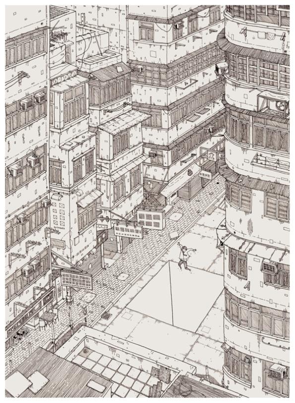 brainrental #illustration #line #city #detail