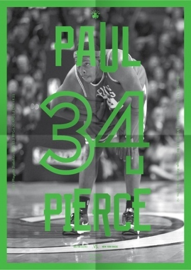 Celtics Playoff Guide : Michael Mercer Brown : Graphic Design #print #pierce #celtics #poster #sport #nba #basketball #paul