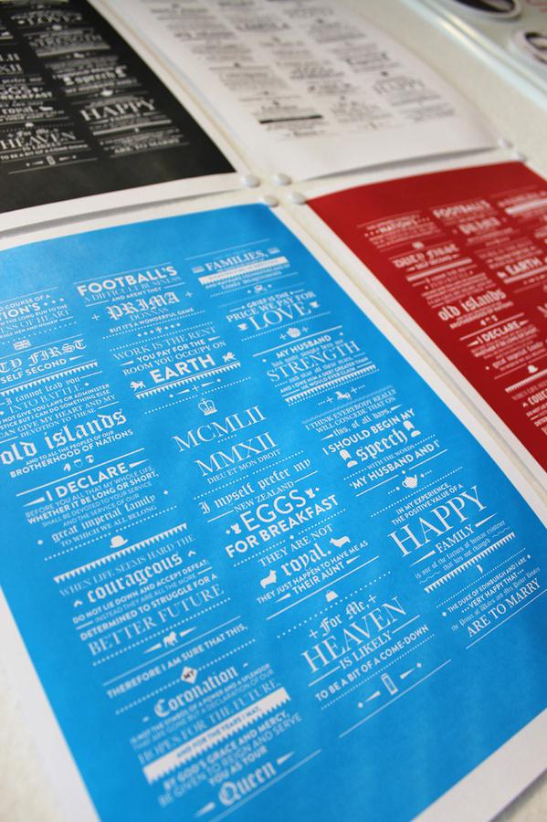 The Queen's Speech Poster #print #speech #type #queen #typography