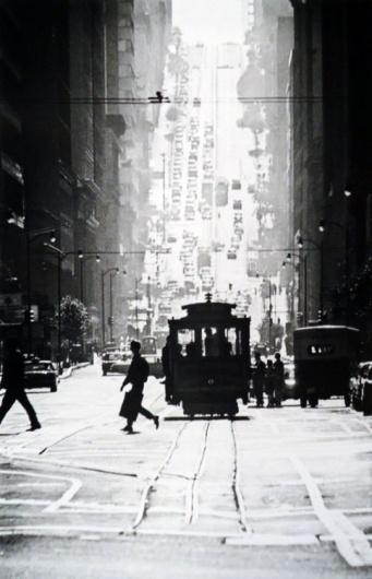 Piccsy :: Fred Lyon/Cable Car Line, San Francisco, 1946 #rail
