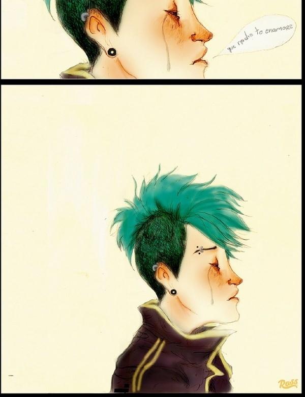 Que nadie te Enamore - ross.mx #punk #girl #color #design #illustration #music #sad #character