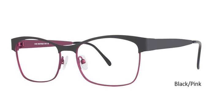 Black/Pink Vivid Eyeglasses Vivid Boutique 5015.