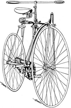 rover_bike.jpg (300×455) #old #illustration #vintage #bike #oldies #rover