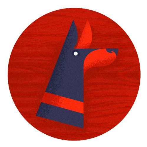 Doberman Doodle #illustration #doberman #texture #dog