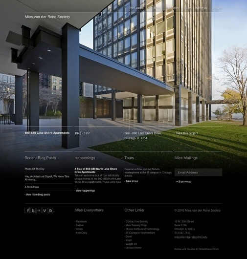 Mies van der Rohe Society Website | Gridness #website