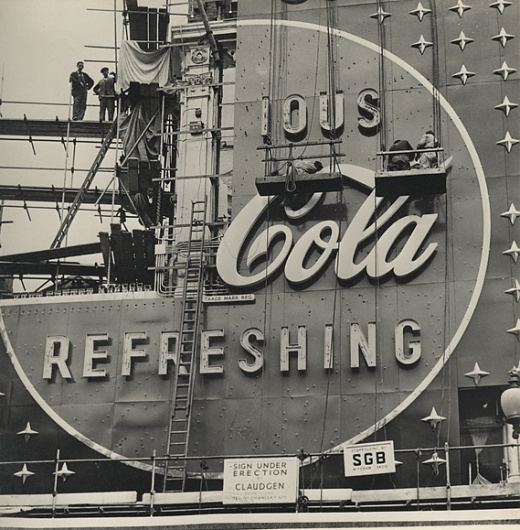 Creative Review - The making of a Coca-Cola neon sign, 1954 #coca #logo #cola
