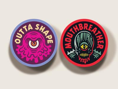 Campy Creatures Blob & Demogorgon Stickers
