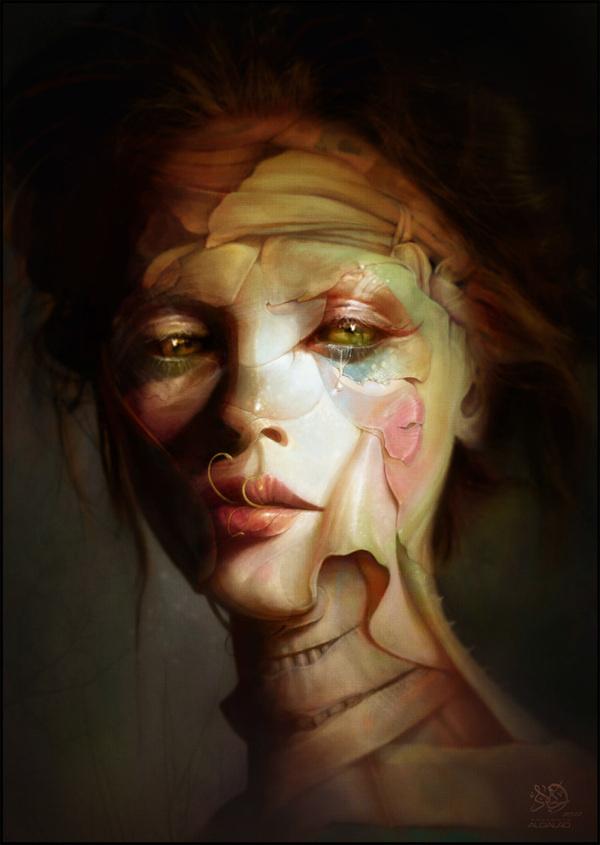 Unique beauty by Algalad on deviantART #portrait #corpse #girl