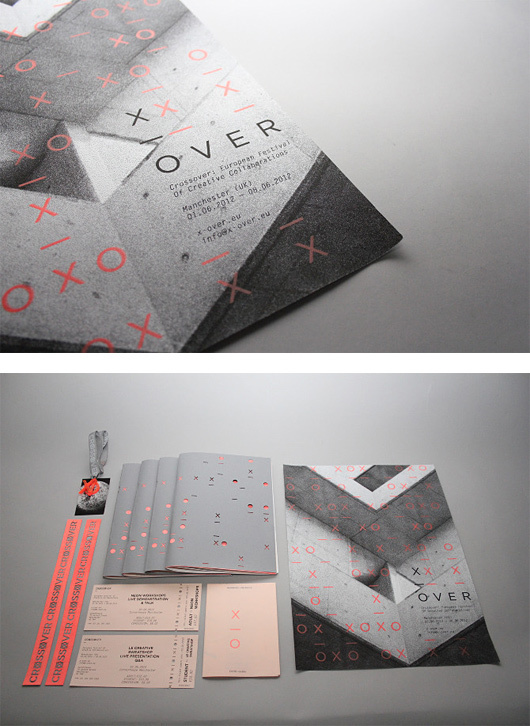 Crossover Festival Branding by Jonathan Finch & Stephanie Oglesby | Inspiration Grid | Design Inspiration #editorial