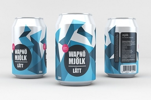 Student Spotlight: Wapnö Milk Company - TheDieline.com - Package Design Blog #dose #milch #tin #milk #student