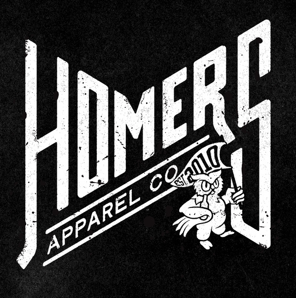 Homers Type #banner #owl #icon #texture #illustration #lockup #type