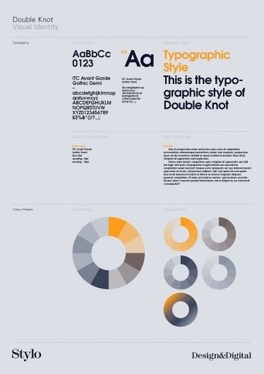 Stylo Design - Design & Digital Consultancy - Double Knot #branding #guide #guidelines #corporate #style