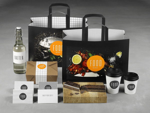 Bold Branding Design for Coor Restaurants #print #food #bags #branding