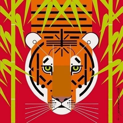 Trixie's Treats: Charley Harper's Wildlife #illustrati #eyes #harper #illustration #tiger