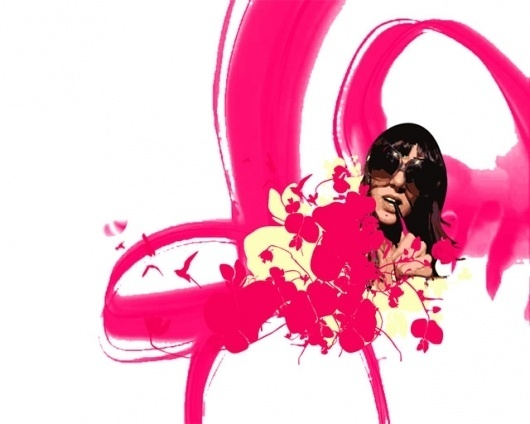 GirlFlowers #glasses #girl #rose #magenta #layout #flowers
