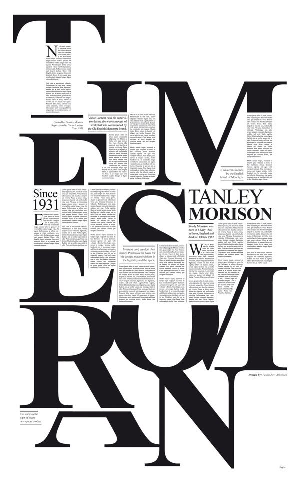 Times New Roman on the Behance Network #editorial #typography