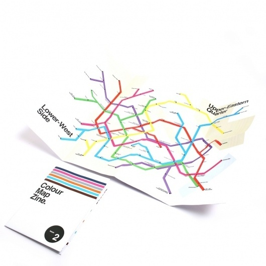 Colour Map Zine #zine #print #design #graphic #map #colour