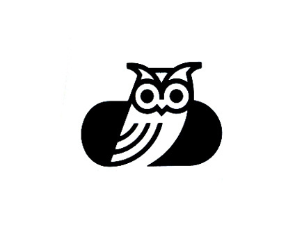 Ken-ichi HIrose for Pension Wakai 1986 Tokyo #logos #owl #branding #trademark #icon #bird #identity #vintage #logo #animal