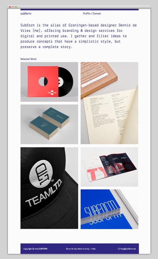 Subform (solid typography) #portfolio #design #website #layout #web